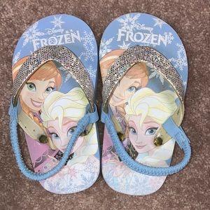 Disney 7-8 frozen Elsa Anna flip flop sandals